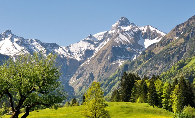 Trettachtal in Oberstdorf im Frühling