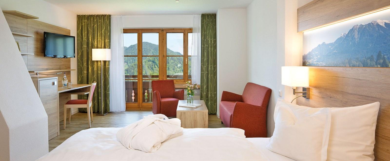 Komfortzimmer mit Bergblick
